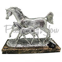 Скульптура Anglada «Лошадь с жеребёнком», h-30х40х18 см (417Pa)