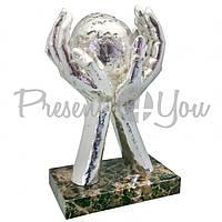 Скульптура Anglada «Мир в твоїх руках», 12х20х30 см (121Pa)