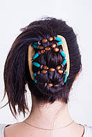 Заколка для волос African butterfly Beada 009 бежевая
