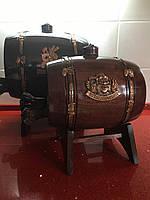 Бочка дерев'яна дубова робоча з краником для вина чи коньяка 2,5 л