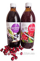 Сок аронии + сок боярышника