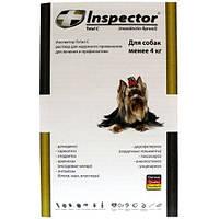 Капли Inspector (Инспектор) для собак меньше 4 кг  1 пипетка  Экопром