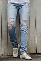 Рваные джинсы с высокой посадкой MISS GRACE