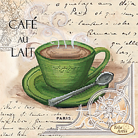 """Схема для вышивки бисером """"Кофе в Париже -5"""""""