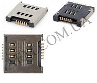 Конектор Sim LG D285/  D325/  D380/  E455/  E615/  P715/  T370/  T375 (на 1 сим карты)