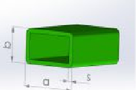 Стеклопластиковая прямоугольная труба