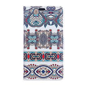 Чехол книжка для Huawei Mate 9 Pro боковой с отсеком для визиток, Классический орнамент