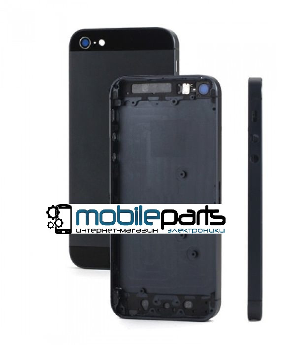 Корпус для Apple iPhone 5 Black (Черный) (Качество ААА)