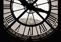 Фотообои арт Часы в Париже