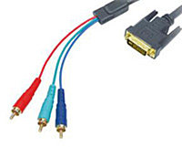 Видео кабель DVI-3RCA, 1.5 м!Акция