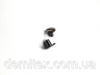 Гвинт ремінною чорний нікель висота ніжки 6мм