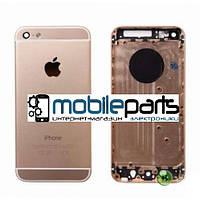 Корпус для Apple iPhone 5s Gold (Золотой) (Качество ААА)