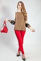 Блуза женская   нарядная цветная длинный рукав Coconuda нарядная длинный рукав