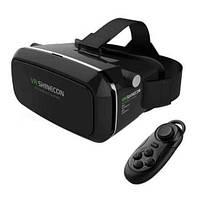 -30% VR BOX SHINECON Black очки 3D виртуальной реальности с пультом