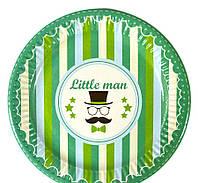 Тарелка бумажная Little man