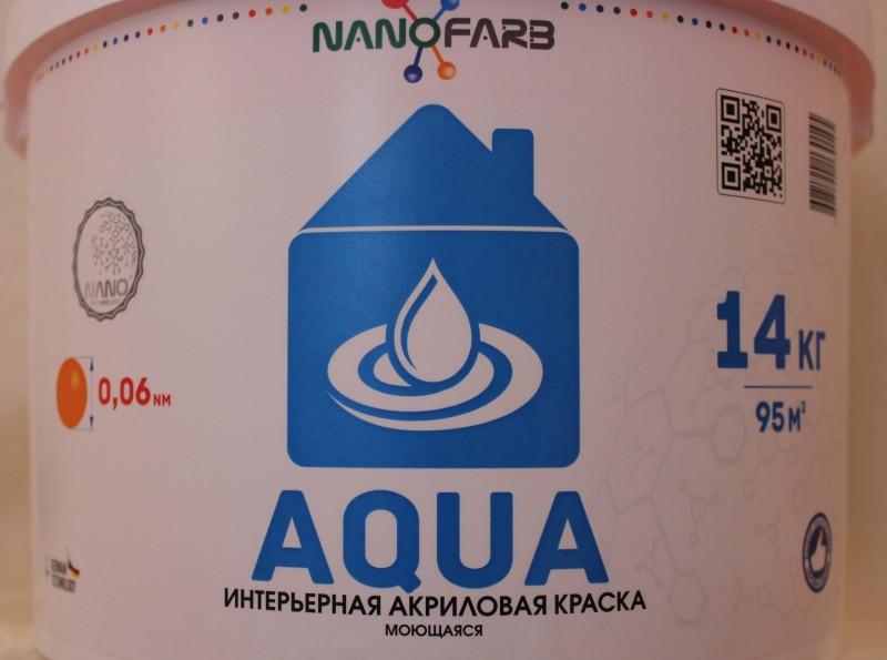 Нанофарб Aqua краска внутр. моющаяся - 1,4 кг