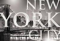 Фотообои арт ночной город Нью-Йорк