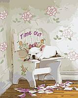 Картина-раскраска Белый бульдог (KH2474) Идейка 40 х 50 см