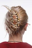 Заколка для волос African butterfly Dupla 001 бежевая
