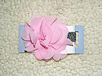 Повязка на голову девочке младенцу праздничная с цветком украшение на голову., фото 1