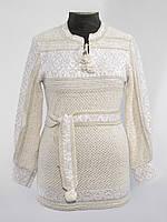 Белая женская вышиванка