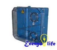 Ящик под трехфазный счетчик (Днепр), пластиковый, герметичный, прозрачный
