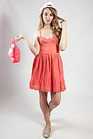 Платье женское пляжное,коралловое Jannyfer