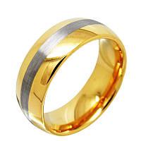 Карбид Вольфрамовое кольцо с позолотой и матовой серединкой