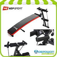 Скамья для пресса с эспандерами Hop-Sport HS-1014
