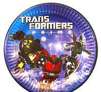 Бумажные тарелки Трансформеры