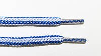 Шнурки круглые 5мм с наполнителем василек (электрик)+белый, фото 1