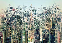Красивые фотообои Городские джунгли  размер 368 х 254 см