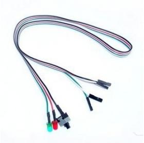 Кнопка Выключатель питания HDD LED 65 см #100422
