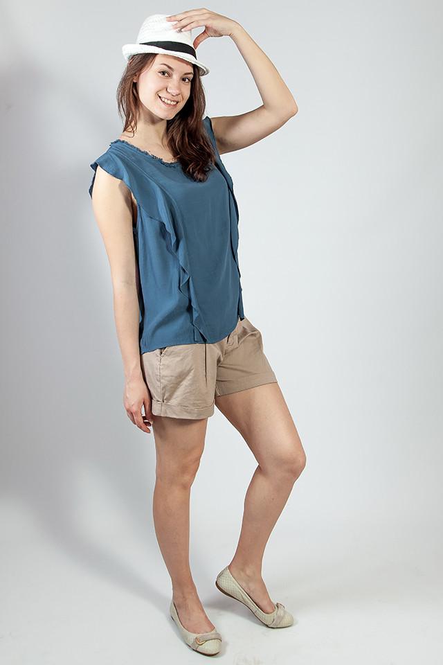 Блуза женская  летняя однотонная  без рукавов Rinascimento