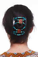 Гребень для волос African butterfly Dupla 003 коричневая тонкая на основе 2-х гребней коричневая