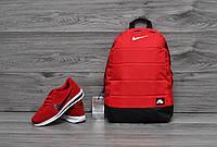 Рюкзак Nike air спортивный городской красный мужской женский   портфель сумка Найк для ноутбука ТОП качества