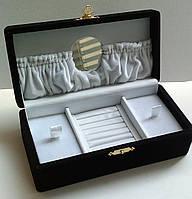 Шкатулка VIP mini для украшений черная с зеркалом