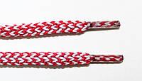 Шнурки круглые 4мм красный+белый, фото 1