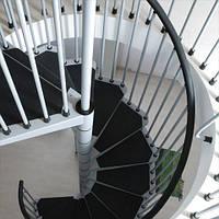 Винтовая лестница Arke Сivik, диаметр 140см, белая/серая/черная, фото 1