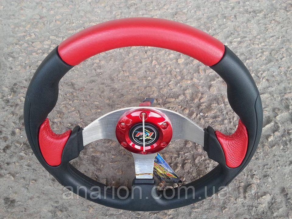 Руль спортивный №580 (красный).