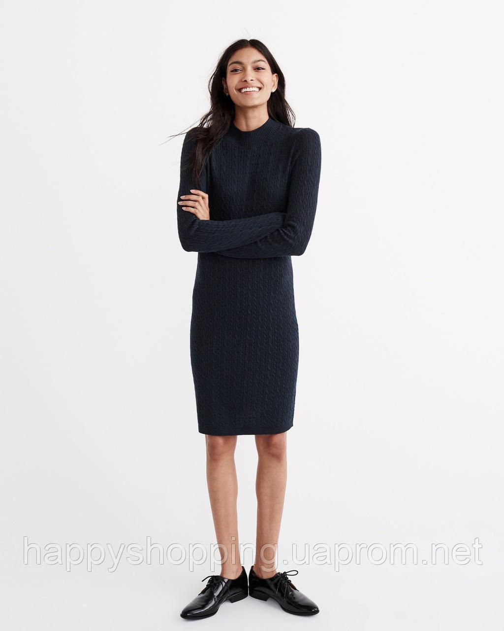 Темно-синее платье Abercrombie & Fitch