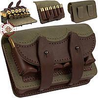 Кожаный патронташ  для охотничьего пояса