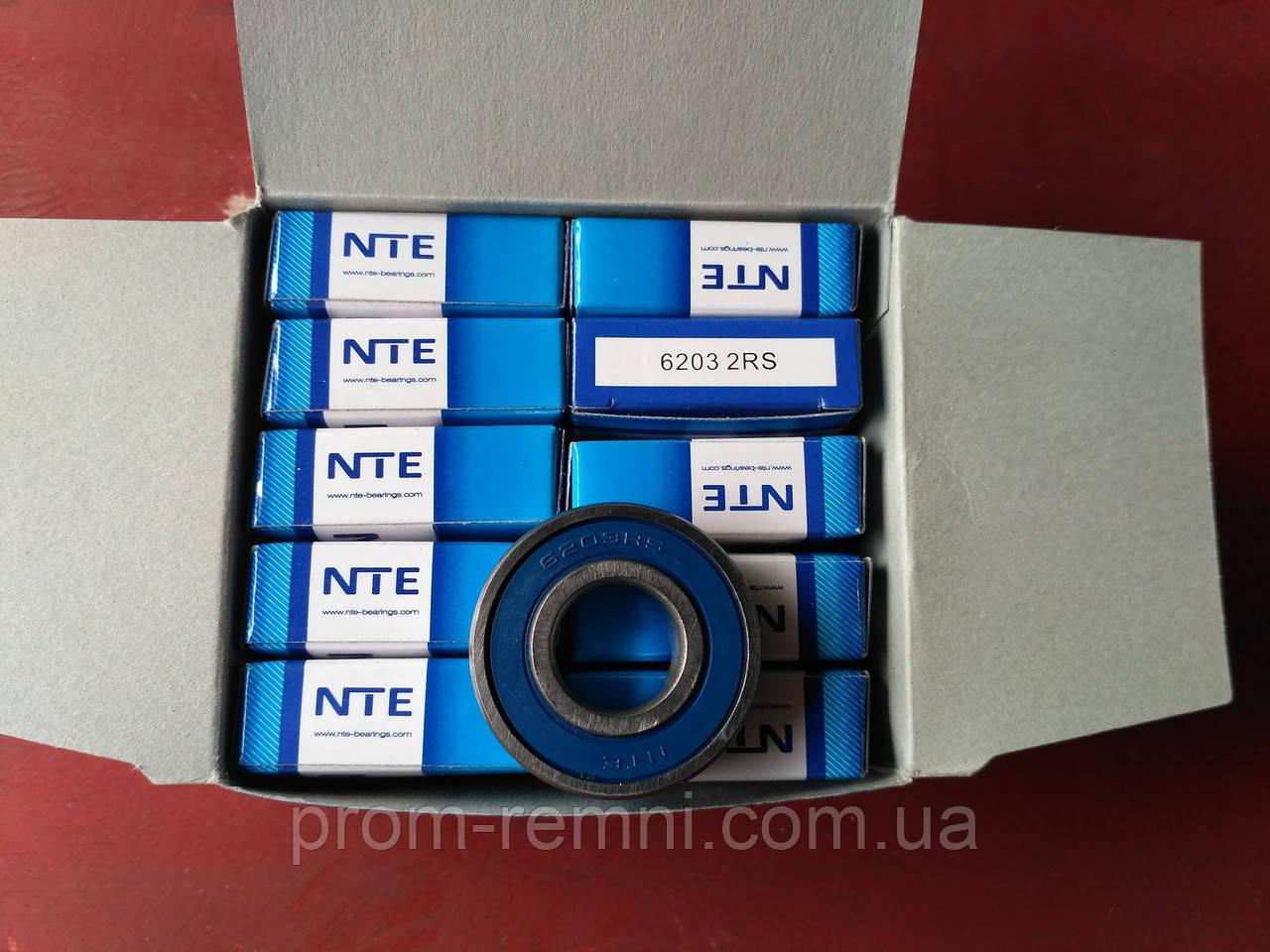 Радіальний однорядний шариковыйподшипник 6203 2RS, NTE (Словаччина)