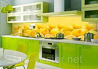 Стеклянные стеновые панели Лимоны