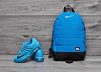 Рюкзак городской спортивный, для ноутбука, мужской, женский, голубой