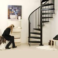 Винтовая лестница Arke Сivik, диаметр 160см, белая/серая/черная, фото 1