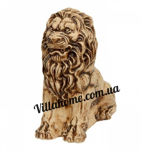 """Высокая садовая фигура """"Лев сидя"""". Высота 70 см. Декоративная скульптура льва"""