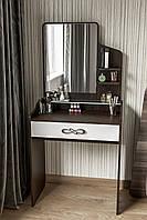 Удобный элегантный  будуарный столик с зеркалом и полкой BS-3