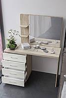 Большой  элегантный будуарный столик с зеркалом и тумбой BS-5