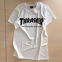 Футболка Thrasher | Бирка Реальные фотки | Женская белая